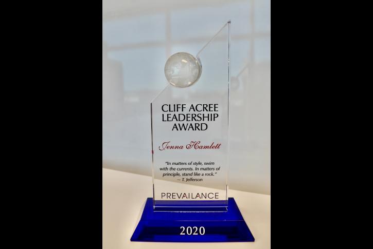 2020 Cliff Acree Leadership Award