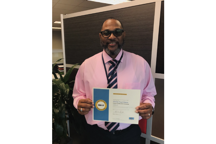 Johnnie Waters SHRM Certification